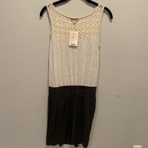 NWT Anthropologie Bordeaux Lace Color Block Dress